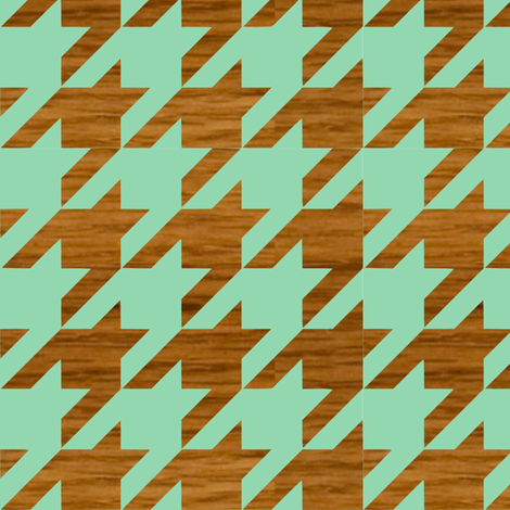 wooden houndstooth fabric by lauredesigns on Spoonflower - custom fabric