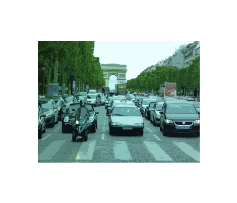 On the avenue des Champs-Élysées, Paris fabric by susaninparis on Spoonflower - custom fabric