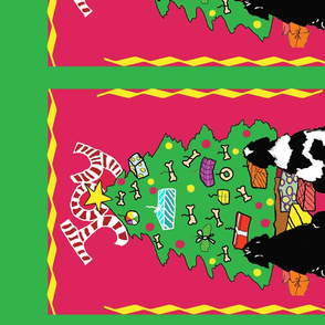 Newfoundland dog Christmas Wall Hanging