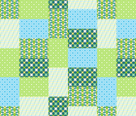 Green Glass Quilt fabric by inscribed_here on Spoonflower - custom fabric