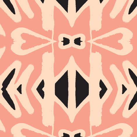 Formalwear in the Tropics - cream sports coat and a pink crustaceon fabric by susaninparis on Spoonflower - custom fabric
