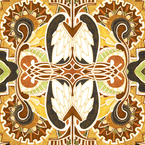 Turkey teeth fabric by edsel2084 on Spoonflower - custom fabric