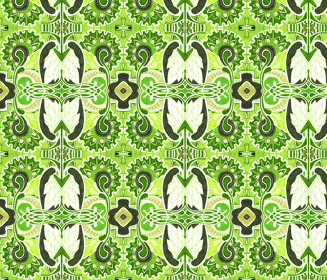Turkey in the grass fabric by edsel2084 on Spoonflower - custom fabric