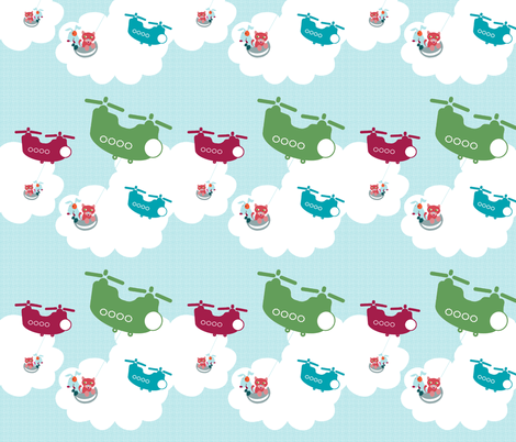 Operation Puppies & Kittens fabric by joybucket on Spoonflower - custom fabric