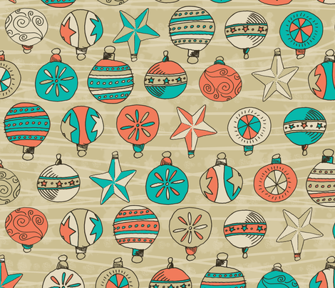 Retro Holiday fabric by seidabacon on Spoonflower - custom fabric