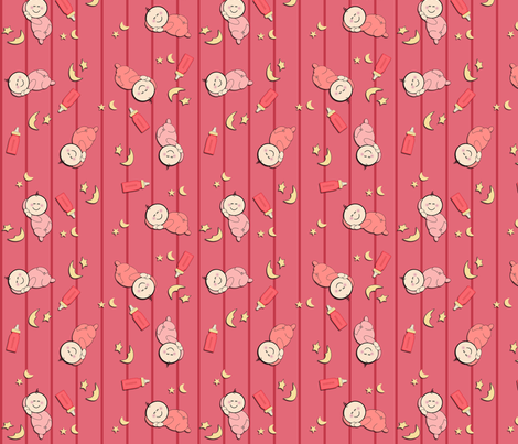Sleepy Baby Girls fabric by jpdesigns on Spoonflower - custom fabric