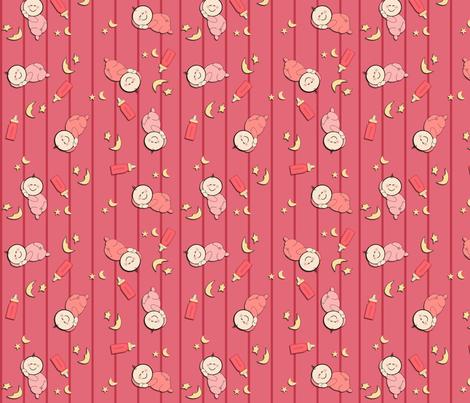 Sleepy Baby Girls fabric by jpdesigns on Spoonflower - custom fabric