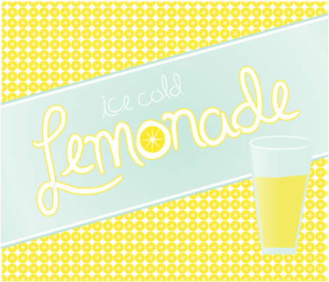 Lemonade Stand Sign fabric by studio30 on Spoonflower - custom fabric