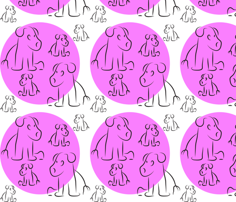 Little Pups fabric by lesser_george on Spoonflower - custom fabric