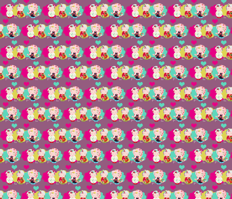 I love you fabric by rita_acapulco on Spoonflower - custom fabric