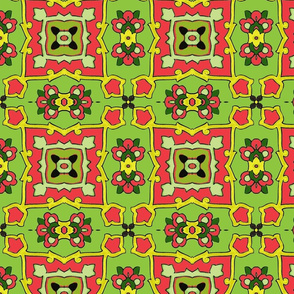 Small Tile-green-red