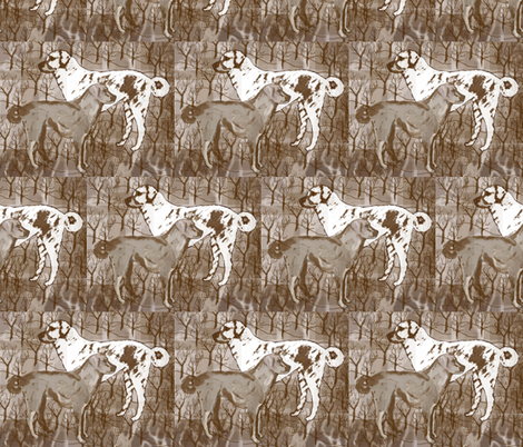 Anatolian Shepherd collage fabric by dogdaze_ on Spoonflower - custom fabric