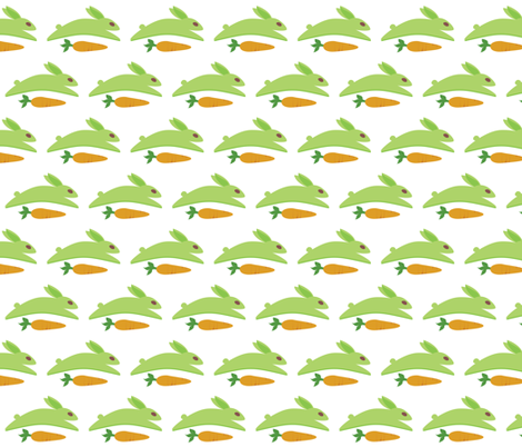 Gwennie With Carrot  fabric by jazilla on Spoonflower - custom fabric