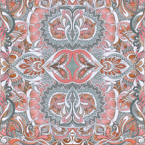 Nouveau Colonial Mash Up fabric by edsel2084 on Spoonflower - custom fabric