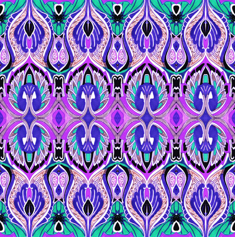 So sari (green/purple) fabric by edsel2084 on Spoonflower - custom fabric