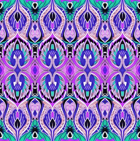 So sari (green/purple) fabric by edsel2084 on Spoonflower - custom fabric