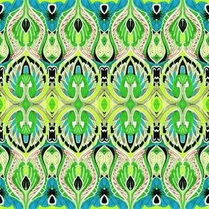So sari (lime/cyan)