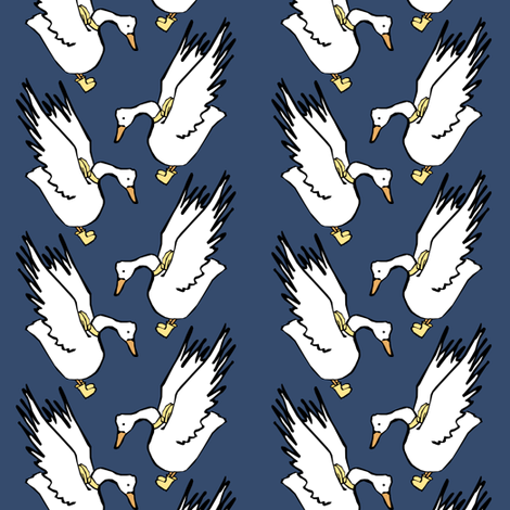 Geese in Rain Boots fabric by pond_ripple on Spoonflower - custom fabric