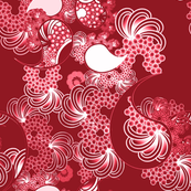 Paisley Wave Red and White