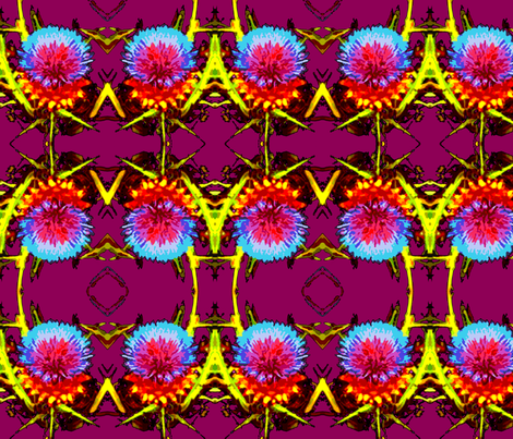 Thistle Bloom fabric by robin_rice on Spoonflower - custom fabric