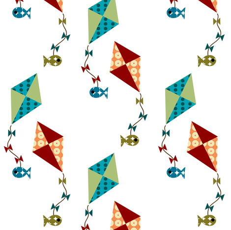kite fishing fabric by krihem on Spoonflower - custom fabric