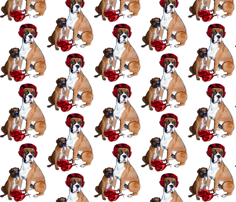 Boxing lessons fabric by dogdaze_ on Spoonflower - custom fabric
