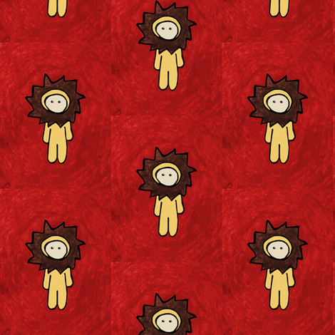 Texture & the Lion fabric by pond_ripple on Spoonflower - custom fabric
