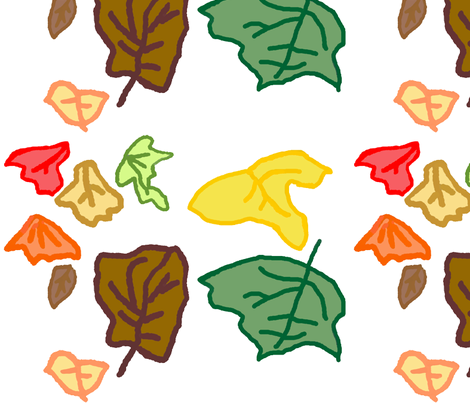 Autumn Leaves fabric by moonduster on Spoonflower - custom fabric