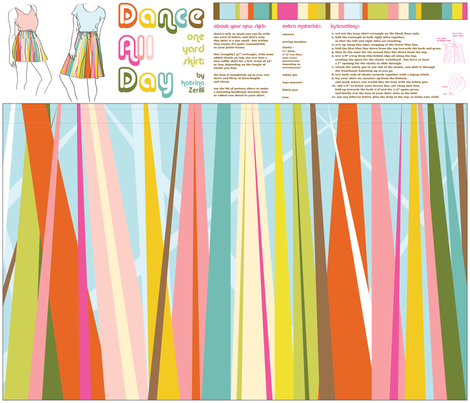 Dance All Day- skirt pattern fabric by katrinazerilli on Spoonflower - custom fabric
