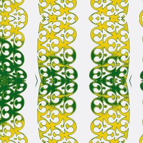 Garland white yellow green