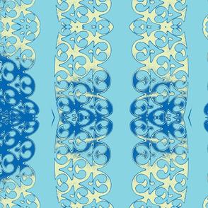 garland turquise blue