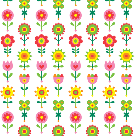 Flower Fun fabric by andibird on Spoonflower - custom fabric