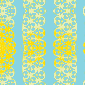 garland turquise yellow