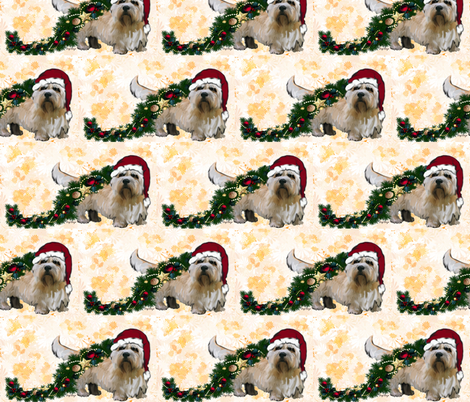 Dandie Dinmont Christmas fabric by dogdaze_ on Spoonflower - custom fabric