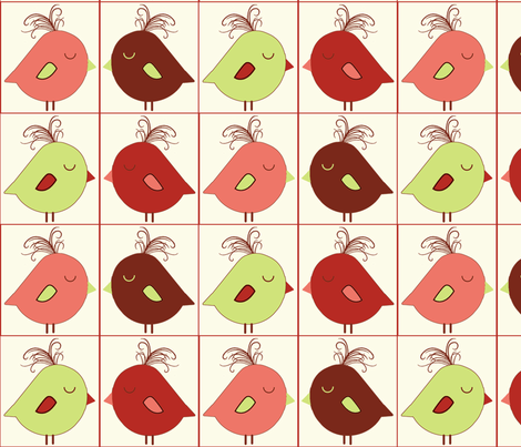Sweet Tweets Blocks fabric by jpdesigns on Spoonflower - custom fabric
