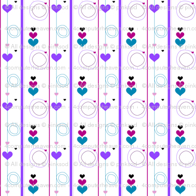 Heartsy Circlets & Stripes - Night Candy - © PinkSodaPop 4ComputerHeaven.com