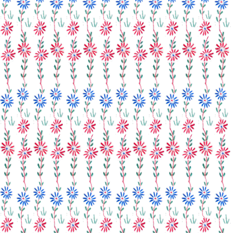 Embroidered Flower Garden fabric by gumbogirl on Spoonflower - custom fabric