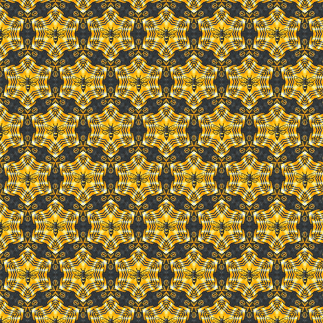 Sythragia's Gold Star Bees fabric by siya on Spoonflower - custom fabric