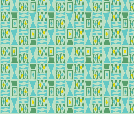 Leaflets fabric by acbeilke on Spoonflower - custom fabric