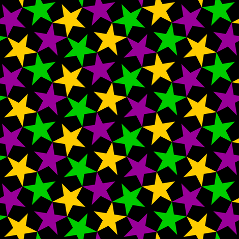 S43 CV1 stars 3 - mardi gras fabric by sef on Spoonflower - custom fabric