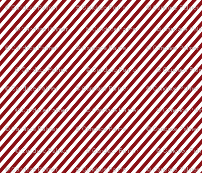 Diagonal red and white stripes.