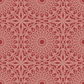 Crocheted Lace - Brick Red