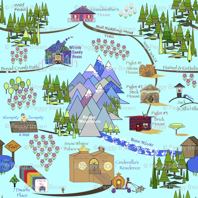 Fairy Tale Map - Blue