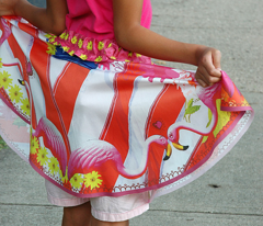 Flamingo Garden Skirt
