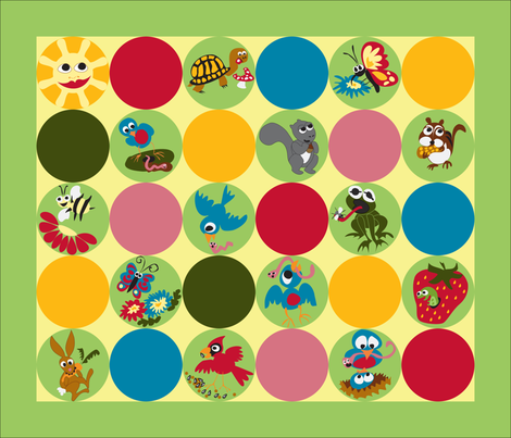 Early Bird & Co. Breakfast Placemats fabric by fussypants on Spoonflower - custom fabric