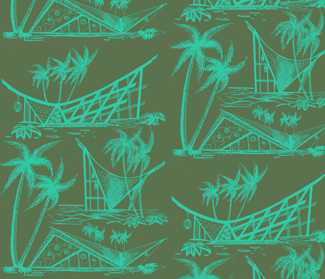 A-Frames  twilight fabric by sophista-tiki on Spoonflower - custom fabric