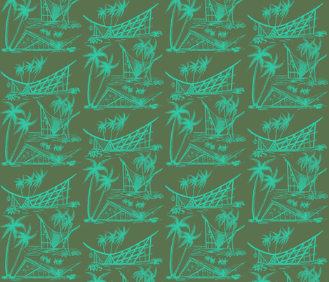 A-Frames  twilight fabric by sophista-tiki_by_dawn_frasier on Spoonflower - custom fabric