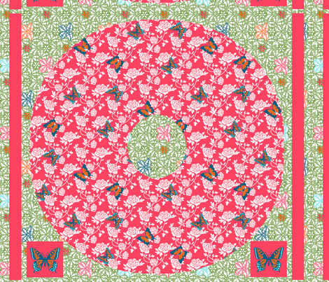 Swirly Girls Twirly Flutterby Skirt Kit fabric by kdl on Spoonflower - custom fabric