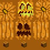 Minecraft Style Pumpkin Cube