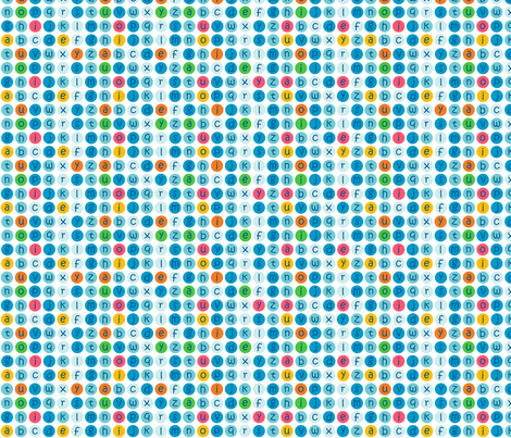 Alphabet dots fabric by elizabethw on Spoonflower - custom fabric